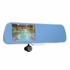 "Q5 5"" 1080P Android Car DVR Rearview Mirror GPS WiFi EU Map - Black"