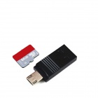 OTG USB TF Card Reader for Android Phone, Tablets - Black (Max. 128GB)