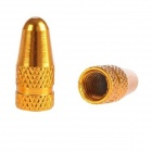 Aluminum Alloy Bike Bicycle Tire Presta Valve Cap - Golden (2PCS)