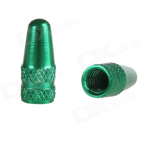 Aluminum Alloy Bike Bicycle Tire Presta Valve Cap - Green (2PCS)