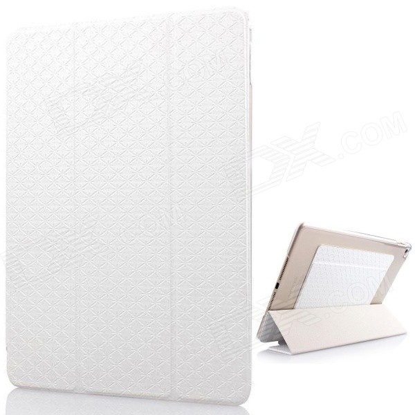 Mr.northjoe Protective PU Leather + PC Case w/ Stand / Auto Sleep for IPAD AIR 2 - White гаджет светодиодная лампа xiaomi yeelight smart led bulb color silver gpx4002rt