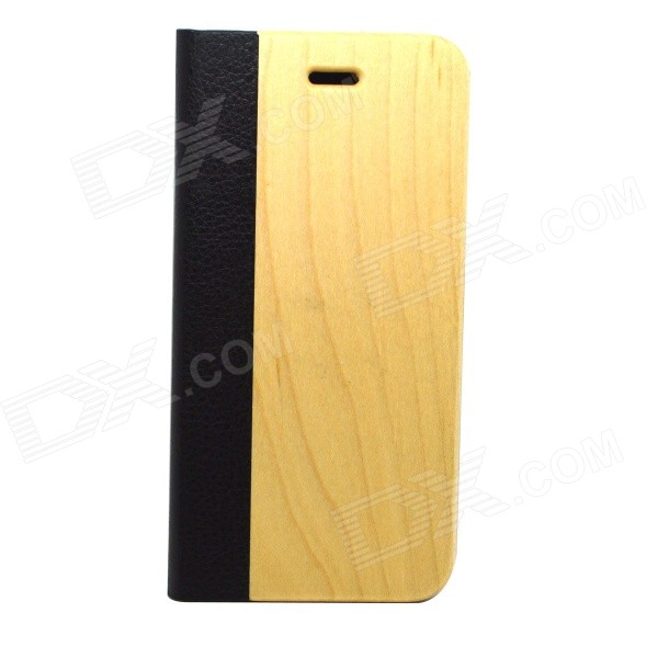 Protective PU Leather + PC + Wood Case for IPHONE 6 4.7