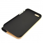 "Protective PU Leather + PC + Wood Case for IPHONE 6 4.7"" - Wooden + Black"