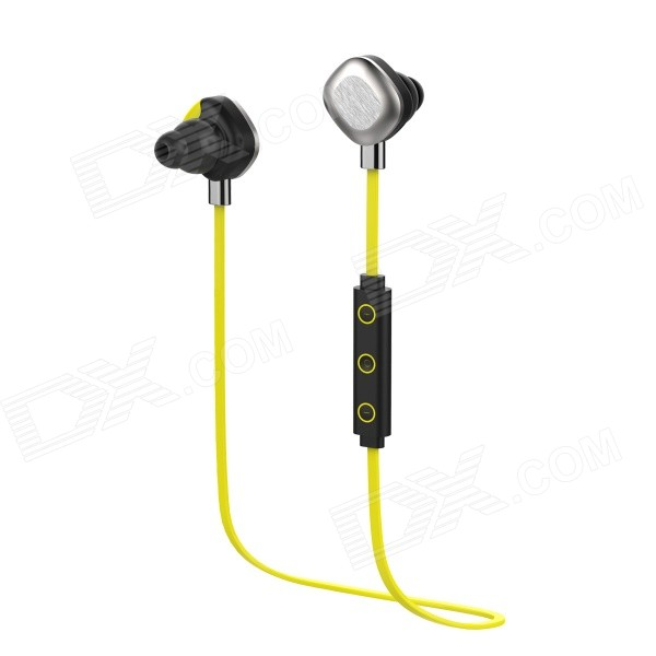 Morul U5 Smart Sports Music Bluetooth V4.1 Earhook Headset w/ NFC - Yellow