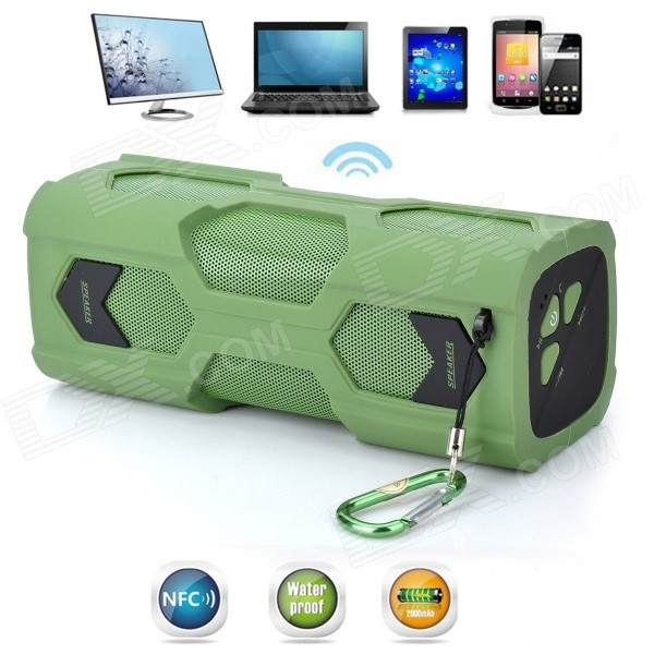 VINA MS-329 Scorpion Style Waterproof NFC Wireless Bluetooth 4.0 Speaker for Cellphone - Army Green vina ms 319 portable outdoor wireless bluetooth 4 0 nfc mini speaker for iphone more green page 10
