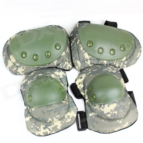 Military Camouflage Style Kneecap / Elbow Guard Set - Camouflage women girls cute fashion snacks coin purse wallet bag change pouch key holder best gift wholesale apr25