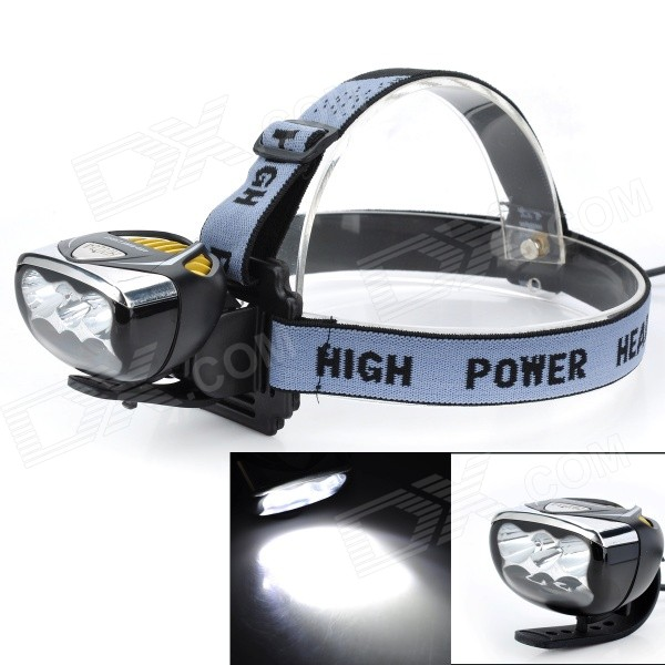 Marsing High Power 6 x 3535 Cool White 3-Mode 3000lm LED Bike Light / Headlamp (4 x 18650) marsing 3 led 3000lm 4 mode cool white bike light headlamp black 4 x 18650