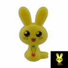 Bunny Style Intelligent Light Control G4 0.1W 21lm Night-light - Yellow + Red (US Plug)