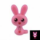 Bunny Style Intelligent Light Control G4 0.1W 21lm Night-light - Pink + Black (US Plug)