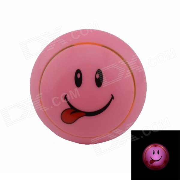 Smile Face Style Intelligent Light Control G4 0.1W 21lm Night-light - Pink + Black (US Plug)