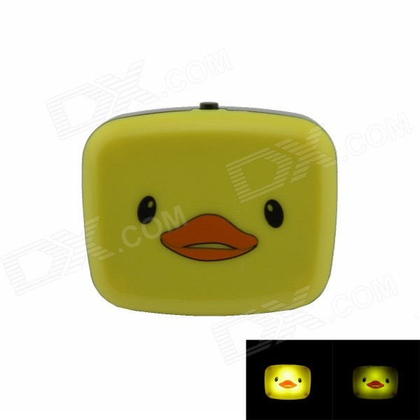Little Duck Style G4 0.1W 21lm 2-mode LED Switch Night-light - Yellow + Black