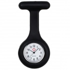 Silicone Case Design Doctor Nurse Pocket Quartz Analog Watch - Black (1 x 377)