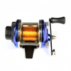 Stainless Steel Spinning Fishing Reel w/ Nylon Line - Gold + Silver + Blue