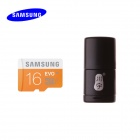 Samsung 16GB Class UHS-I Micro SDHC / TF Flash Memory Card / USB Card Reader - Orange