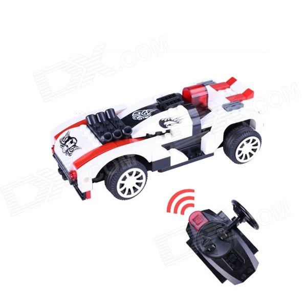 12YB Building Blocks Assembled Remote Control Car Educational Toys - White + Black lepin 05034 star series wars the shuttle educational building assembled blocks bricks toy compatible with legoing 10212 for boy