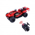 12DD Building Blocks Assembled Remote Control Car Educational Toys - Red + Black