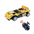 10B Building Blocks Assembled Remote Control Car Educational Toy - Black + Yellow + Multi-Color