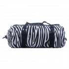Acecamp 2468 Outdoor Camping Water Resistant Zebra Pattern Duffel Bag - Black + White (60x30cm, 40L)