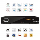 Tiger Z400 HD 1080P 300 TV Channels Digital Satellite Receiver IPTV Box - Black
