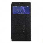 KALAIDENG Protective PU Leather Case Cover w/ Window + Stand for SONY XPERIA Z3 - Black
