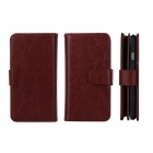 Detachable PU Leather Full Body Case w/ Strap + Card Slot for IPHONE 6 - Brown