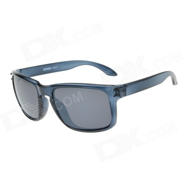 RS9000C8 Stylish UV400 Protection PC Sunglasses - Transparent Grey + Grey