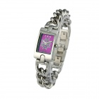 IKE L1507 Stylish Water-resistant Quartz Analog Watch - Silver + Lavender (1 x SR626SW)