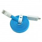 PZ-56 USB Male to Micro USB Male Charging & Sync Cable w/ LED Indicator - Blue (100cm)