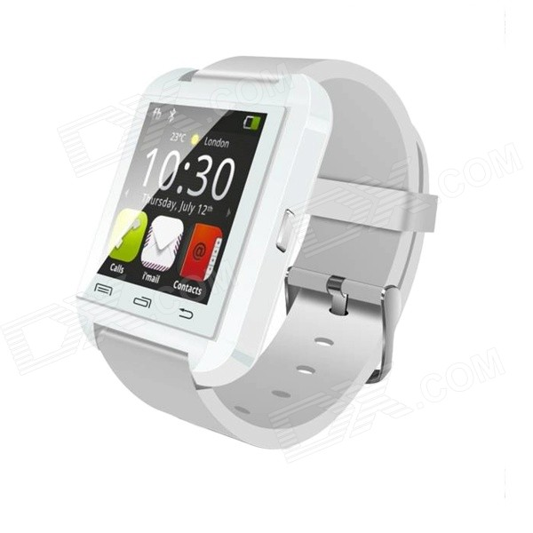 Uwatch U8 Plus Wearable 1.44 Touch Screen Smart Watch Phone w/ Bluetooth & Pedometer - White user