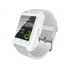 "Uwatch U8 Plus Wearable 1.44"" Touch Screen Smart Watch Phone w/ Bluetooth & Pedometer - White"