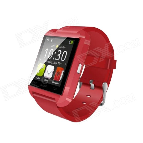 Uwatch U8 Plus Wearable 1.44 Touch Screen Smart Watch Phone w/ Bluetooth & Pedometer - Red user