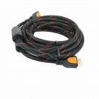 Yellow Knife YK2029 HDMI Male to HDMI Male HD Convert Cable - Black + Red (8m)