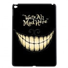 "Elonbo ""We're All Mad Here"" Pattern Plastic Hard Back Case Cover for IPAD AIR 2 - Black + Yellow"