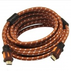 Yellow Knife YK72 HDMI v1.4 Male to Male Digital HD Connection Cable - Brown + Black (10m)