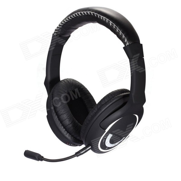 HUHD 2.4GHz Wireless Gaming Headband Headphone w/ Mic. for XBOX 360 / PS3 / PS4 / PC + More - Black 31 век ps nc401