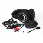 HUHD 2.4GHz Wireless Gaming Headband Headphone w/ Mic. for XBOX 360 / PS3 / PS4 / PC + More - Black