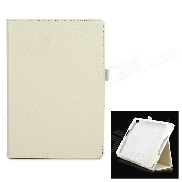 Protective PU Leather Flip-Open Case w/ Stand for Google Nexus 9 - White removable bluetooth v3 0 64 key keyboard w pu case for google nexus 9 8 9 white