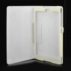 Protective PU Leather Flip-Open Case w/ Stand for Google Nexus 9 - White