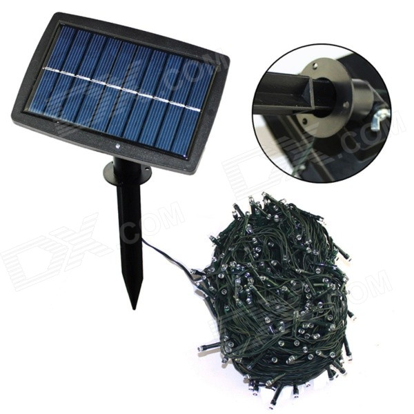 1.5W 18lm 300-LED Blue Light Courtyard Garden Christmas Decoration Solar Strip Lamp (30.5M)