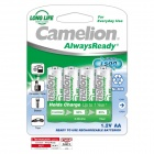 Camelion AlwaysReady 1000mAh Ni-MH AA Rechargeable Batteries (4 PCS)