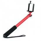 4-Section Retractable Monopod + Adapter Set for GoPro Hero 1 / 2 / 3 / 3+ / 4 - Red + Black