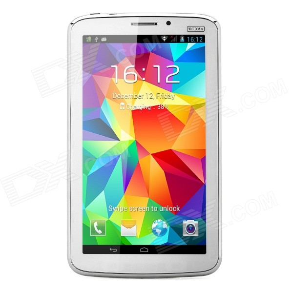 P380 7 Android 4.2.2 Dual-Core GSM Tablet PC w/ 4GB ROM, Dual-SIM, GPS - White + Silver jiake f1w 5 0inch capacitive touch screen mtk6572 dual core 1 2ghz smartphone 512mb 4gb 2 0mp 0 3mp android 4 2 os 3g gps with protective case black