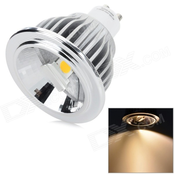 YouOkLight GU10 7W 410LM 3200K 2-COB Warm White Light Spotlight - Silver (AC 100~240V) youoklight 8w 485lm 3500k 1 cob led warm