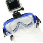 Dykking Briller Mask for GoPro Hero 4/3 / 3+ / SJ4000 / SJ5000 - Blå + Svart