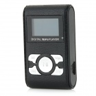 "0.8"" OLED Digitale MP3-Speler w/ TF / 3.5 mm Jack / Mini-USB - Zwart + Zilver"