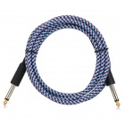 Electric Drum Guitar Bass Male to Male AV / Shielding Cable Cord w/ 6.35mm - Blue + Red (160cm)