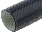 3D Carbon Fiber Car Decoration Adhesive Decal Sticker - Black (200 x 27cm)