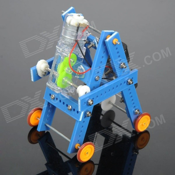 DIY Educational Assembled Crawling Robot Toy for Children / Kids - Blue + Orange + Multicolor dark blue li battery solar auto darkening shading electric welding mask helmet for welding equipment and plasma cutter machine