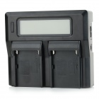 "3.1"" LCD Dual Batteries Charger for Sony / Panasonic / JVC - Black"