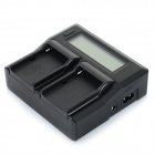"3.1"" LCD to batterilader for Sony / Panasonic / JVC - svart"